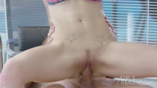 GIRLSRIMMING - Nathaly Chery Prostate Massage