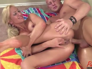 Zoey Portland gets oiled up & ass fucked in her bikini