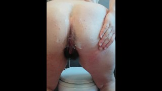 Amateur Chubby Italian spread cream on tits big hairy ass and cunt squirt