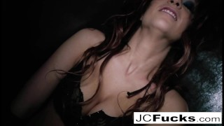 Horny Jayden Cole teases and pleases herself