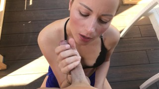 Blowjob and Huge Cumshot on my Face. I Clean everything!!!  mother pipe francaise fitness babe amateur blowjob pov blowjob huge cumshot on face sexy brunette belle fille verified amateur lingerie masturbation mom