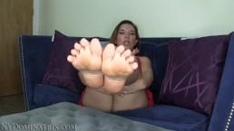 Summer Foot Cleaner JOI POV Trailer