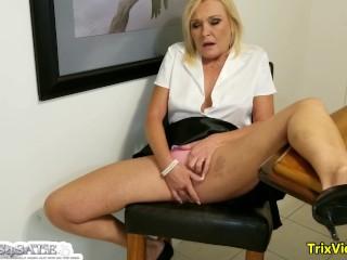 Sneakng in an Office Orgasm