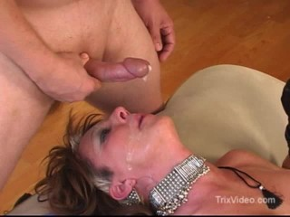 Black facial cum shot