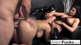 3-way gonzo energetic sex with Alison