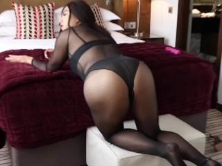 Shemale alina wang sheer black body string...