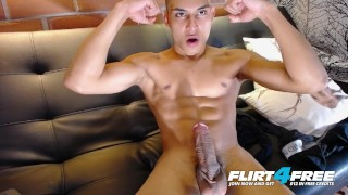 Christopher Colt on Flirt4Free - Sexy AF Chiseled Latino Has Amazing Cock