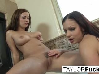 Big titty lesbians take a shower together