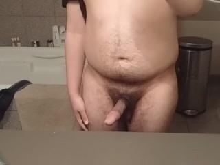 Jacking off my 19yo latin dick in the mirror