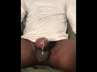 Horny black guy comes 3 times!!!