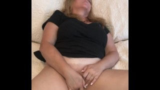 Watch We Cum while Rubbing & Fingering my Wet Pussy - Naughty Homemade