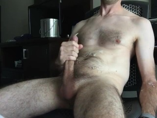 Ball bouncing cumshot multiple ropes of cum