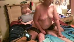 Sub has screaming orgasm riding tied down master
