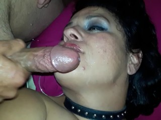 l BBW Slut Allision Broadway takes a raw creampie and seedy Facial
