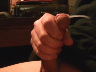 I love showing my cum shoot in slow motion