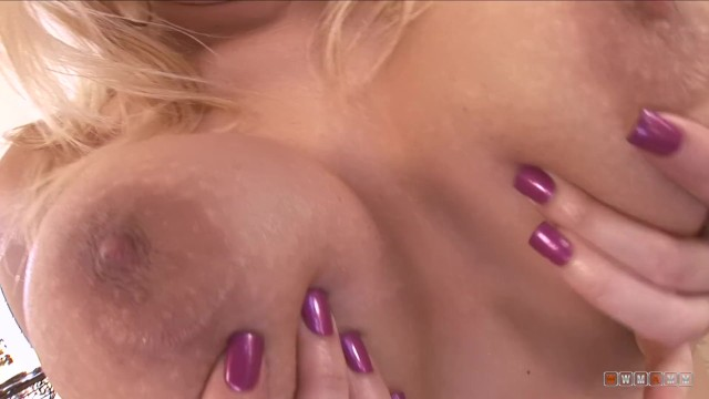 Huge black cock slides in tight busty babes ass hole and cum on her boobs 5