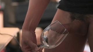 Vintage chardonnay wine