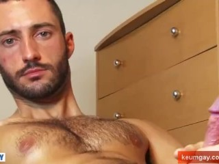 French straight male serviced his by cock by us in spite of him !