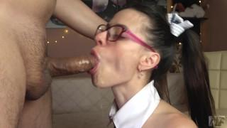 Skinny schoolgirl anal training Petite stepdaughter