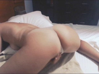 Sneaky Horny Teen Masturbates to Porn Again & Squirts For The First Time!