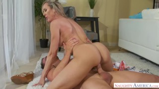 Hung stud young love milf brandi fucks naughty mom