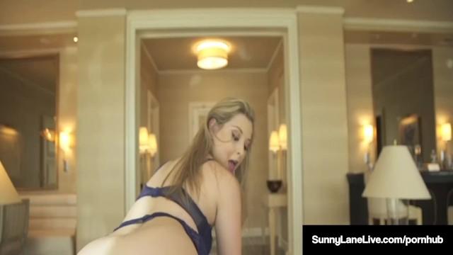 Hazel Eyed Babe Sunny Lane Sucks & Fucks Dildo On Table Top! Sunny-Lane, VN 20