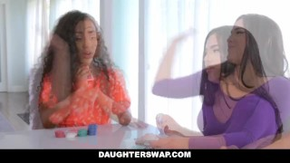 DaughterSwap - Hot Latina Besties Cock Swap Kacey kacey