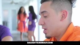 DaughterSwap - Hot Latina Besties Cock Swap