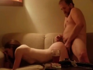 Pounding that pussy making her say my name and squirt!
