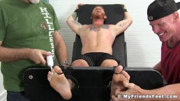 Ginger hunk tied up and tickled by two horny pervs