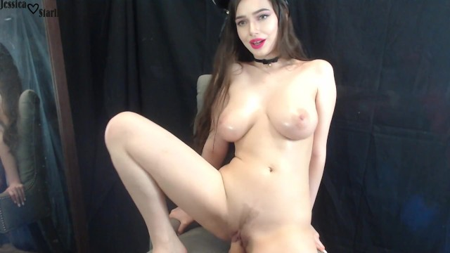 Jessica jameson fucking - Cute kitty with big tits fucks and rides dildo on cam - jessica starling