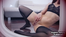 Watching myself in the mirror riding a DILDO makes me SQUIRT A LOT
