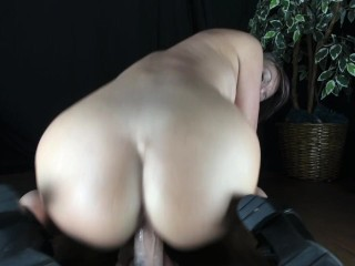 CARING BUBBLE BUTT MOM GIVES INTO NERVOUS STEP SON AND RIDES HIS COCK
