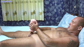 I punished him! Pegging with a huge strapon, fisting and prostate milking