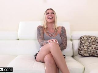 Tattooed nympho Karma Rx fucks her neighbors husband