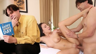 Stepdaughter With Daddy Issues Fucks Her Stepdad On Father's Day - FILF