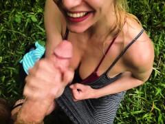 Interrupted by a Buffalo? Intense Deepthroat with Cum in Mouth - LeoLulu