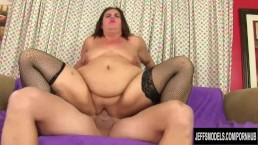 A Long Dicked Guy Fucks Fat Woman Danni Dawson in Her Tight Asshole