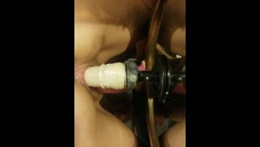 Riding my mirrior mounted dildo deep inside!!!