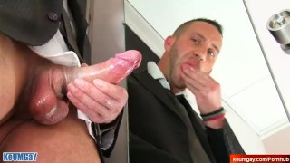 Male masturbator to a sexy french neighbour serviced in spite of him