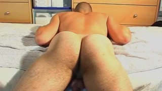 Male masturbator to a French straight neighbour serviced in spite of him