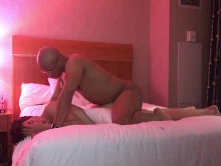 Daddy forces son in hotel