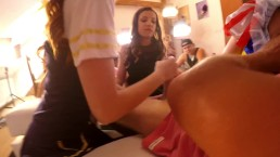 5 GIRLS 1 BOY INCREDIBLE HANDJOB MORE THAN 105 MINUTES OF TEASE-FULL PART A
