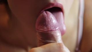 Romantic blowjob and foreskin play - licking frenulum
