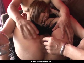 First time double fucked by such hard cocks - More at 69avs.com