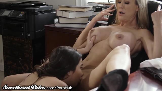 Lesbian student teacher video Milf teacher brandi love licked by lez student in office