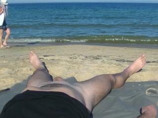 Cекс на пляже с незнакомкой