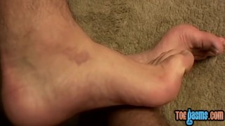 Foot cock young his stiff wanking enjoys fetishist off wanking fetish