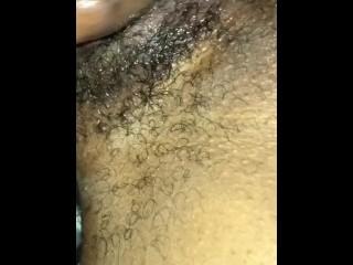 Quick ebony pussy fuck