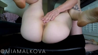 HOT girl with perfect ass squirts and cums harder than ever!  make a how to cheating squirt wife whore missionary kink squirting girlfriend pawg butt fingering slut orgasm finger fucking